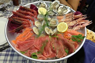 Crudité, antipasto di pesce - Ristorante Le Capannelle