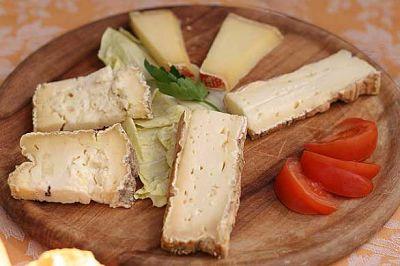Un piatto di formaggi al Ristorante Le Capannelle