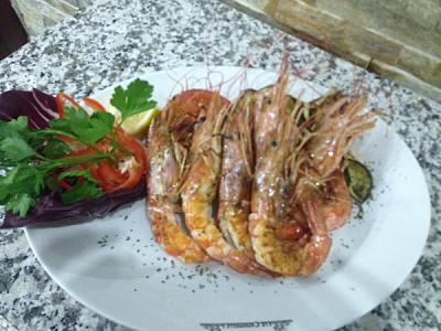 Gamberoni alla griglia, secondo di pesce - Ristorante Le Capannelle